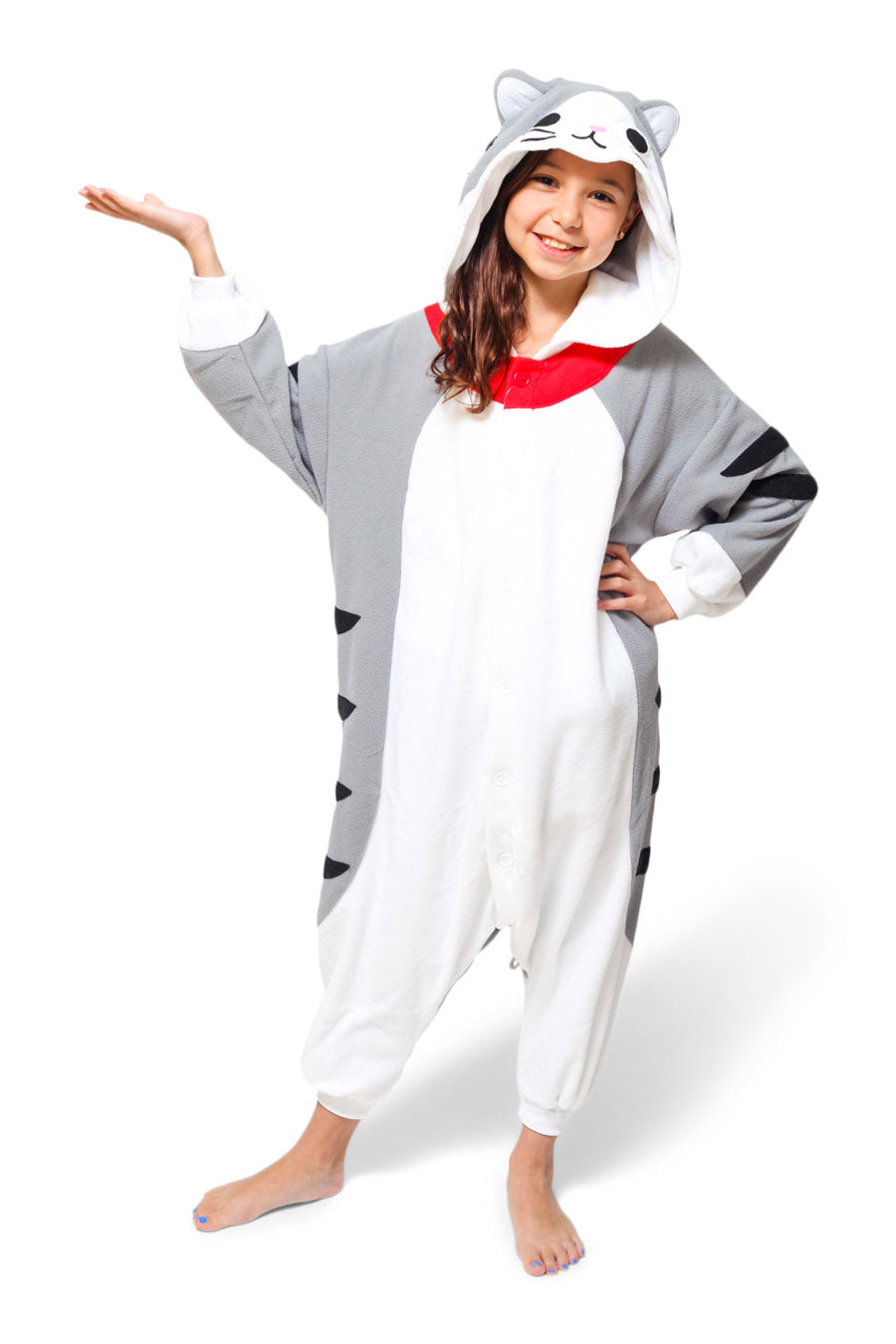 Kids Tabby Cat Animal Kigurumi Onesie Costume Pajamas Main 130cm
