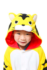 Kids Tiger Animal Kigurumi Onesie Costume Pajamas Hood 110cm