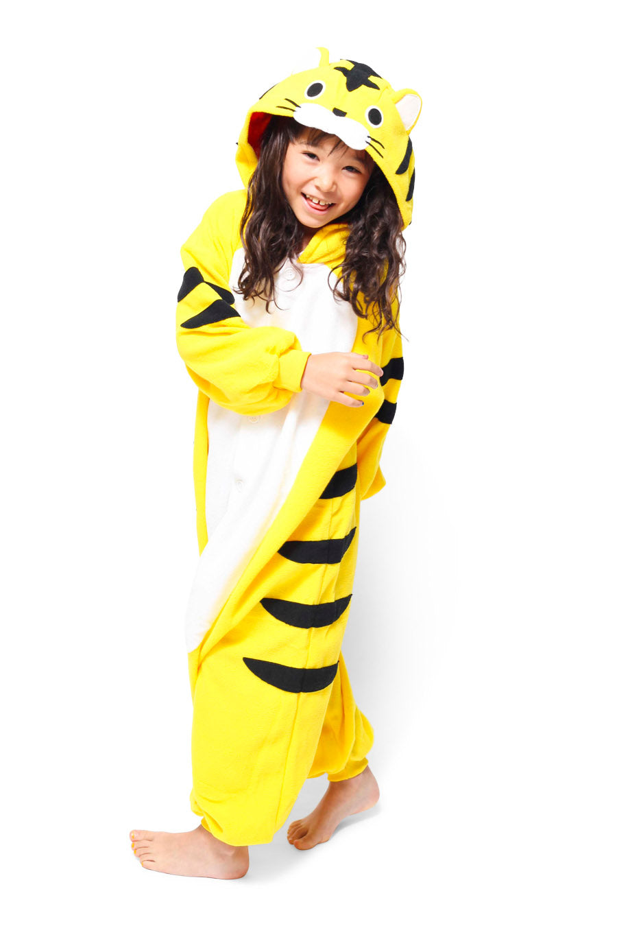 Kids Tiger Animal Kigurumi Onesie Costume Pajamas Main 130cm