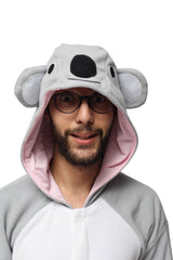 Koala Animal Kigurumi Adult Onesie Costume Pajamas Hood
