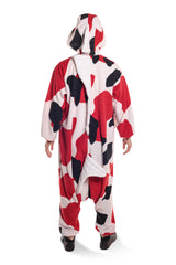 Koi Fish Animal Kigurumi Adult Onesie Costume Pajamas White Red Black Back