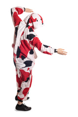 Koi Fish Animal Kigurumi Adult Onesie Costume Pajamas White Red Black Side