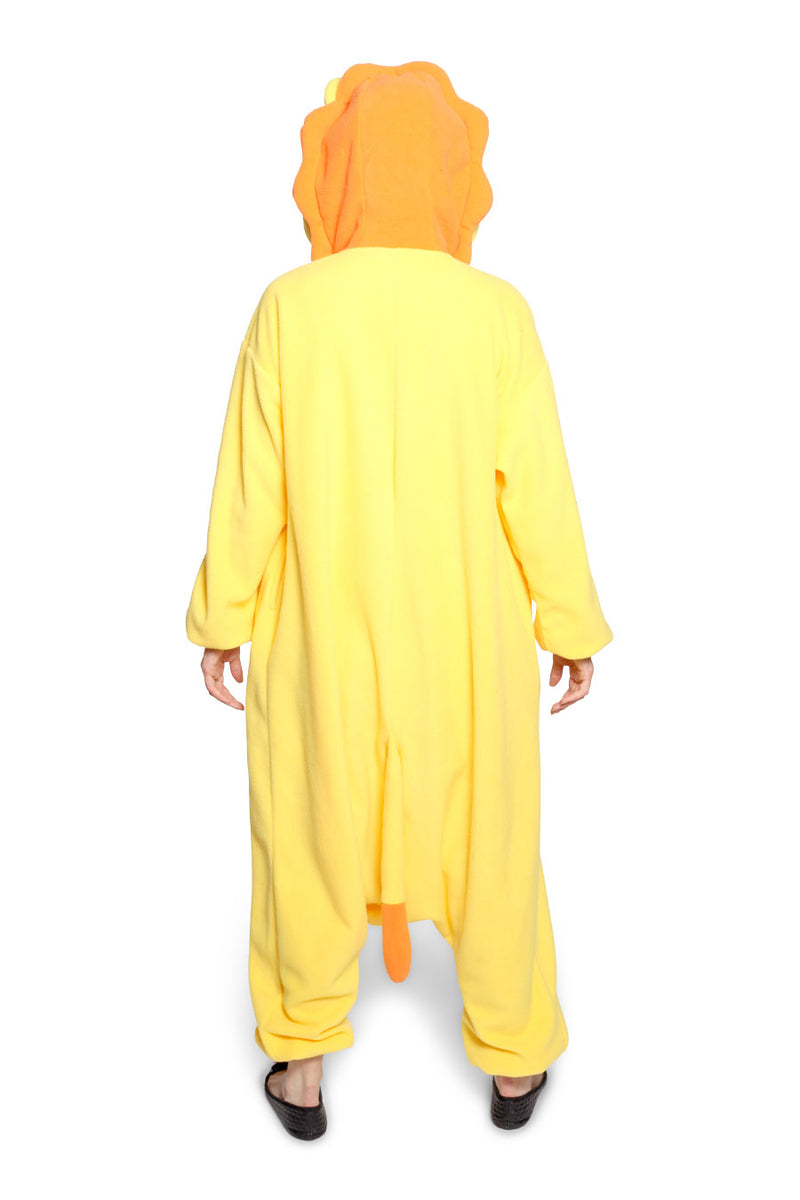 Lion Animal Kigurumi Adult Onesie Costume Pajamas Back