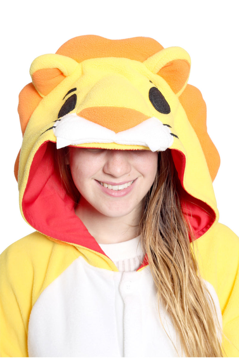 Lion Animal Kigurumi Adult Onesie Costume Pajamas Hood