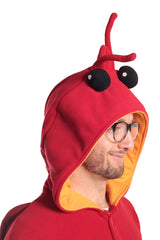 Lobster Animal Kigurumi Adult Onesie Costume Pajamas Red Hood Side