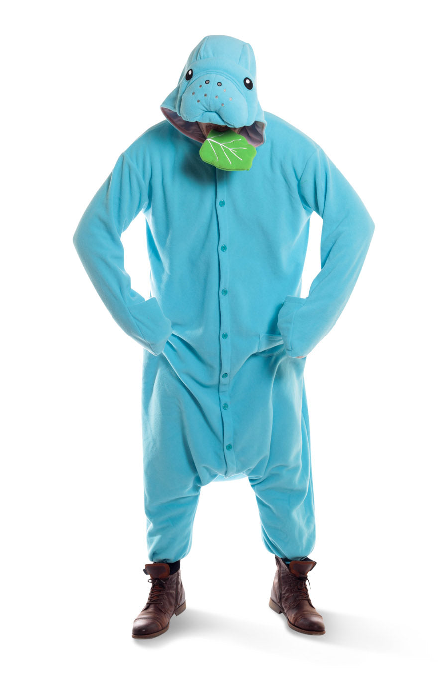 Manatee X-Tall Animal Kigurumi Adult Onesie Costume Pajamas Blue Main