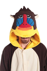 Mandrill Animal Kigurumi Adult Onesie Costume Pajamas Hood