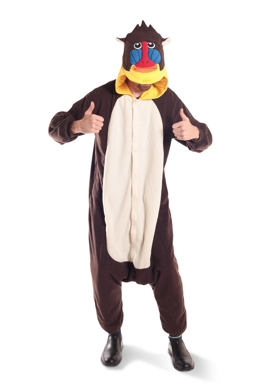 Mandrill Animal Kigurumi Adult Onesie Costume Pajamas Main