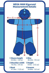 Mega Man Character Kigurumi Adult Onesie Costume Pajamas Diagram Detail Seconary