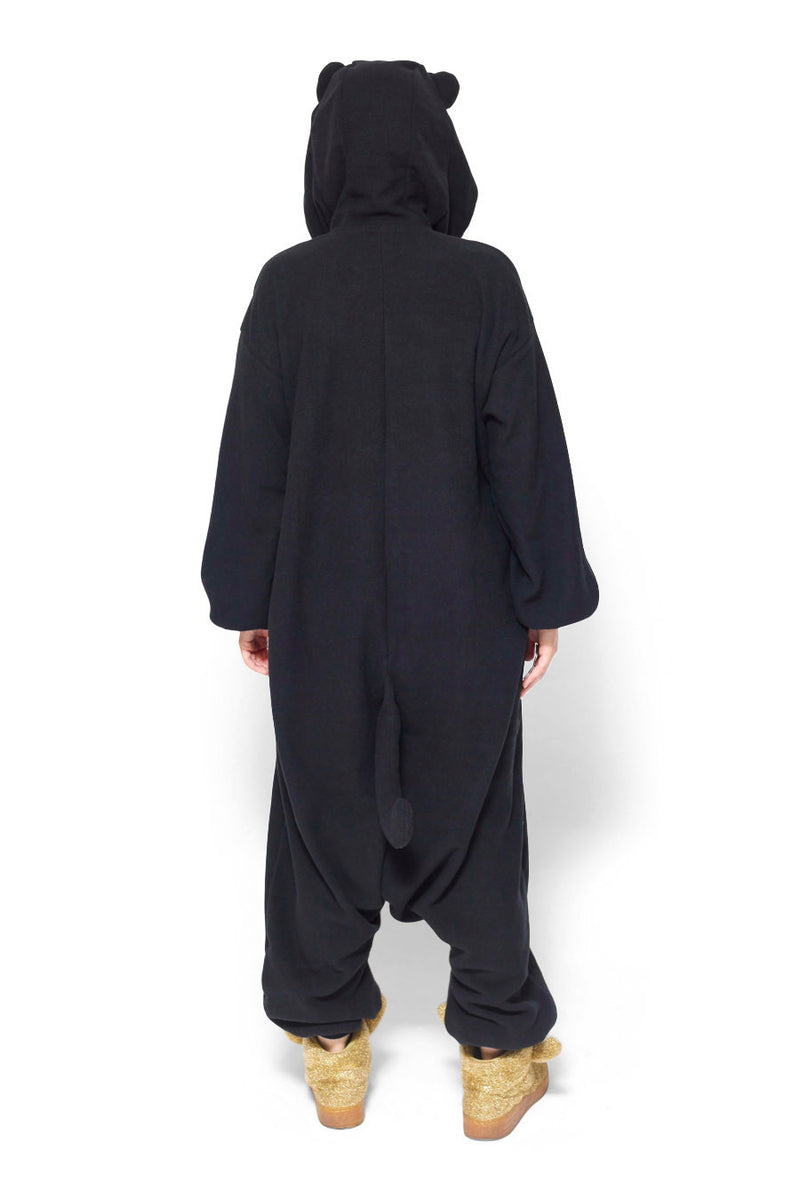 Midnight Cat Animal Kigurumi Adult Onesie Costume Pajamas Back