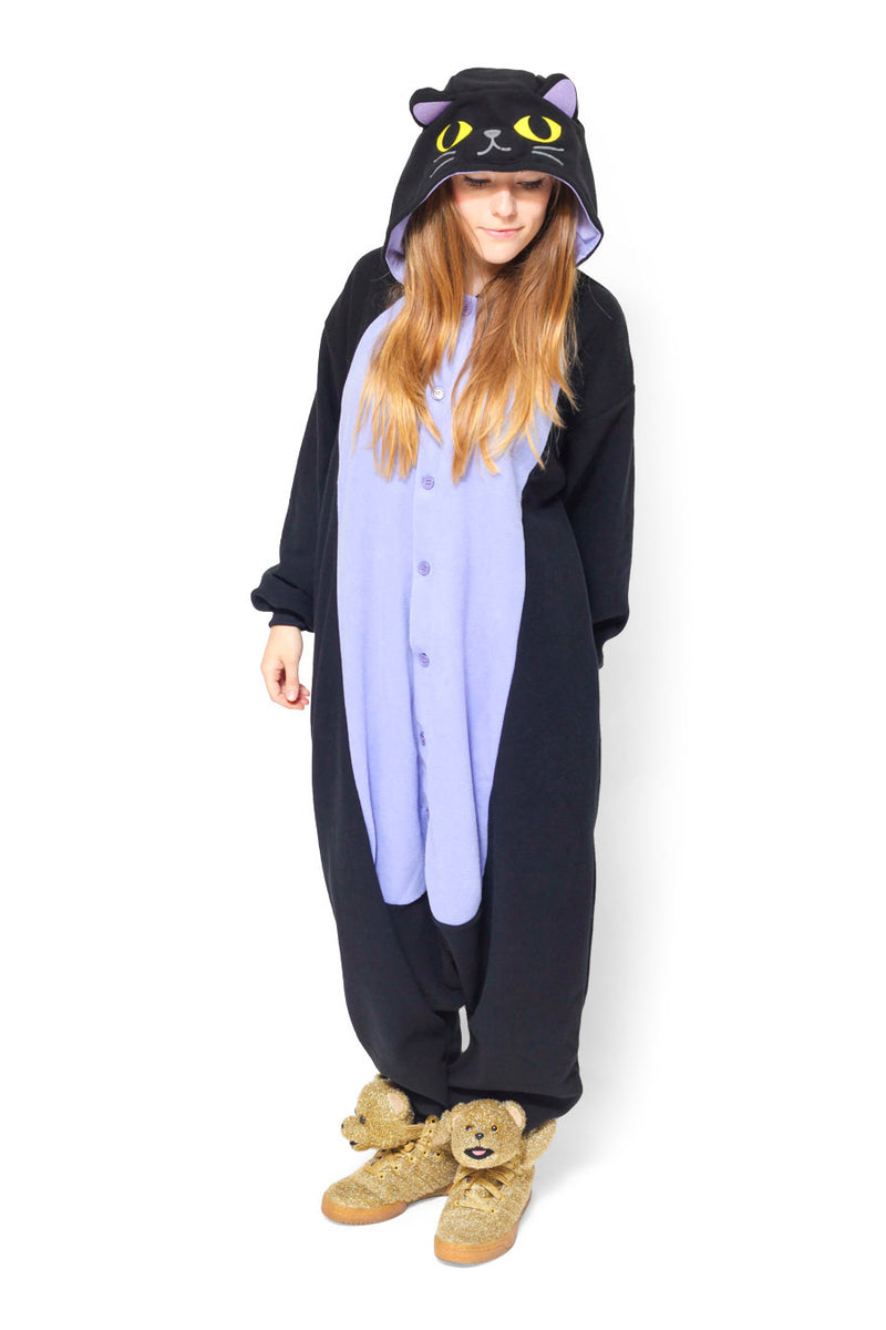 Midnight Cat Animal Kigurumi Adult Onesie Costume Pajamas Secondary