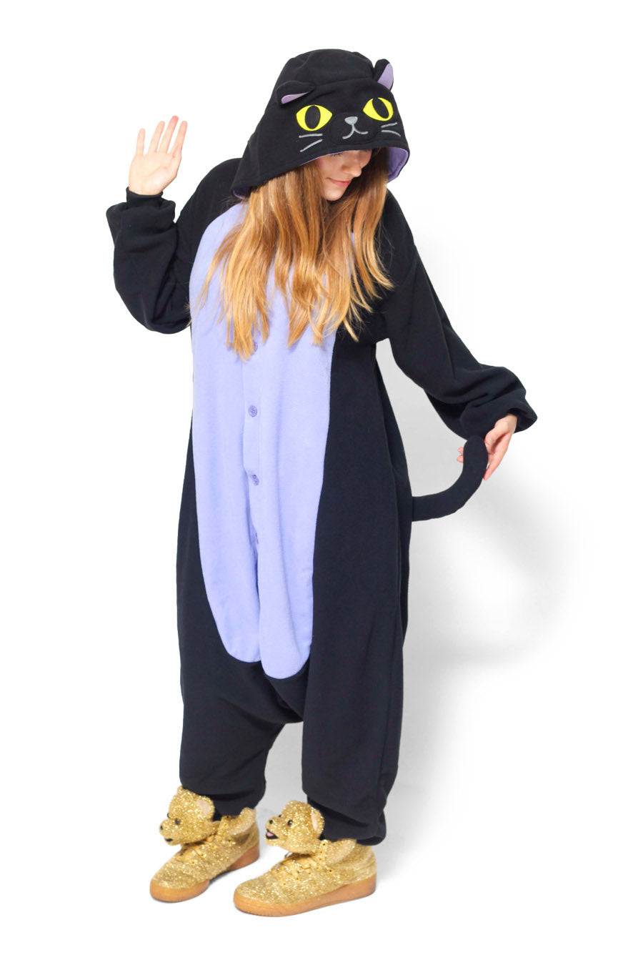 Midnight Cat Animal Kigurumi Adult Onesie Costume Pajamas Main