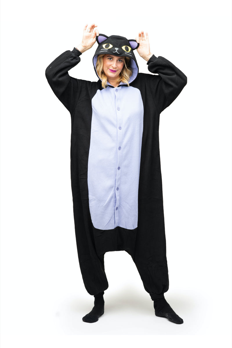 Midnight Cat X-Tall Animal Kigurumi Adult Onesie Costume Pajamas Secondary