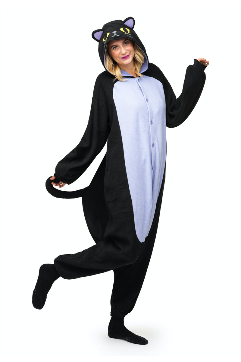 Midnight Cat X-Tall Animal Kigurumi Adult Onesie Costume Pajamas Main