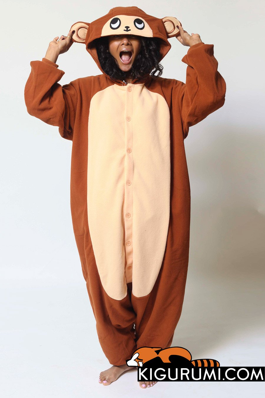 Monkey Onesie Kigurumi Animal Costume Adult Pajamas