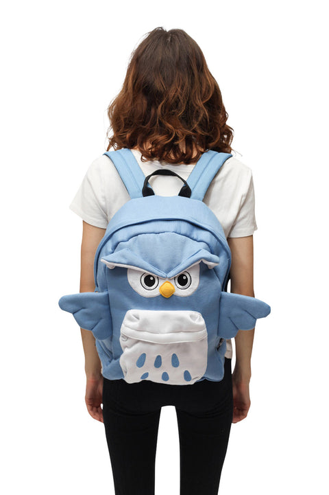 Blue Owl Backpack Bag Sazac Front