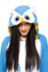 Owl Animal Kigurumi Adult Onesie Costume Pajamas Hood