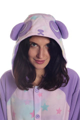 Pastel Dream Panda Animal Kigurumi Adult Onesie Costume Pajamas Hood