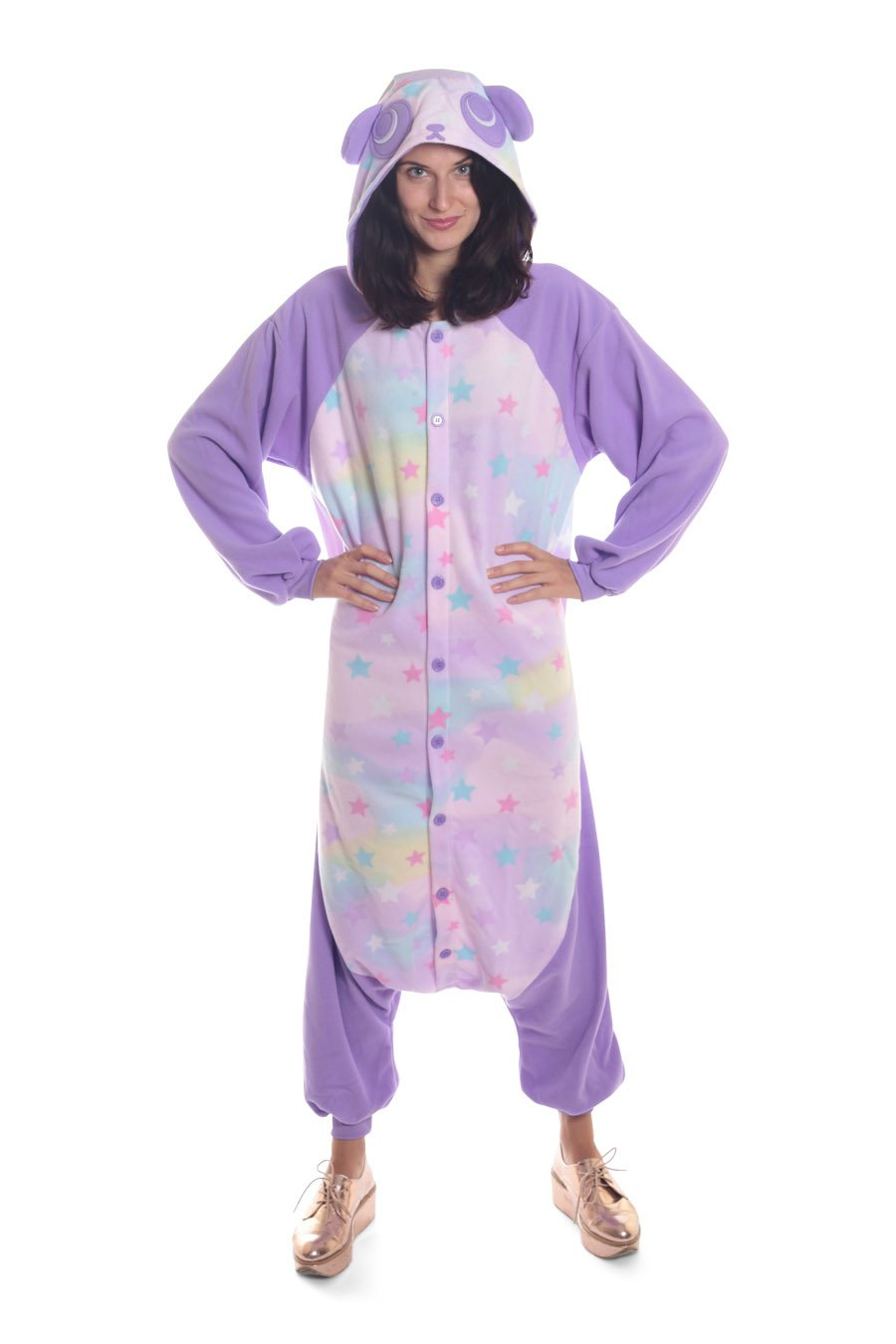 Pastel Dream Panda Animal Kigurumi Adult Onesie Costume Pajamas Main