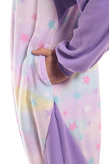 Pastel Dream Panda X-Tall Animal Kigurumi Adult Onesie Costume Pajamas Purple Stars Pockets
