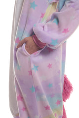 Pastel Dream Unicorn Animal Kigurumi Adult Onesie Costume Pajamas Stars Pockets