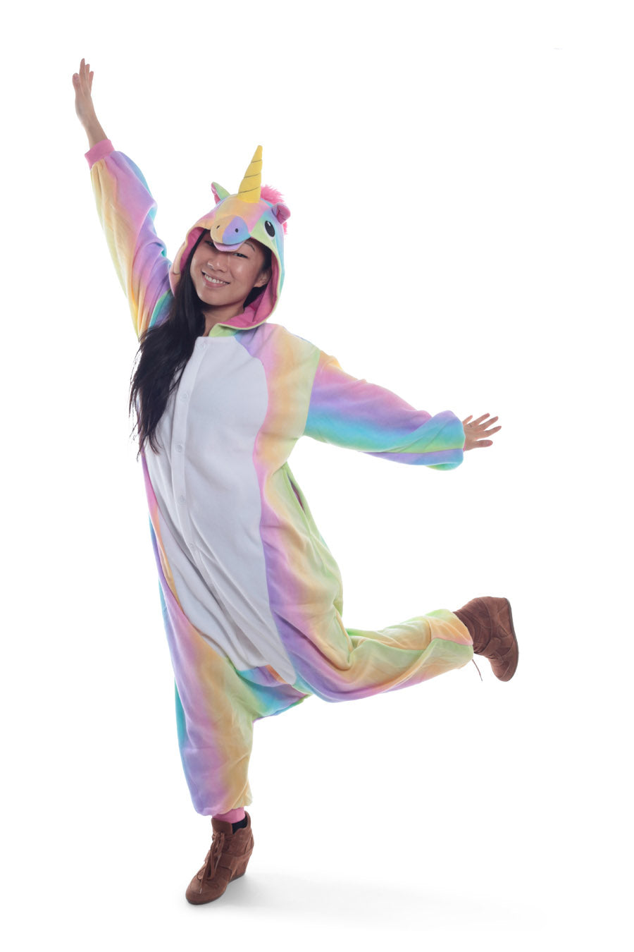 Pastel Hologram Unicorn Animal Kigurumi Adult Onesie Costume Pajamas Main