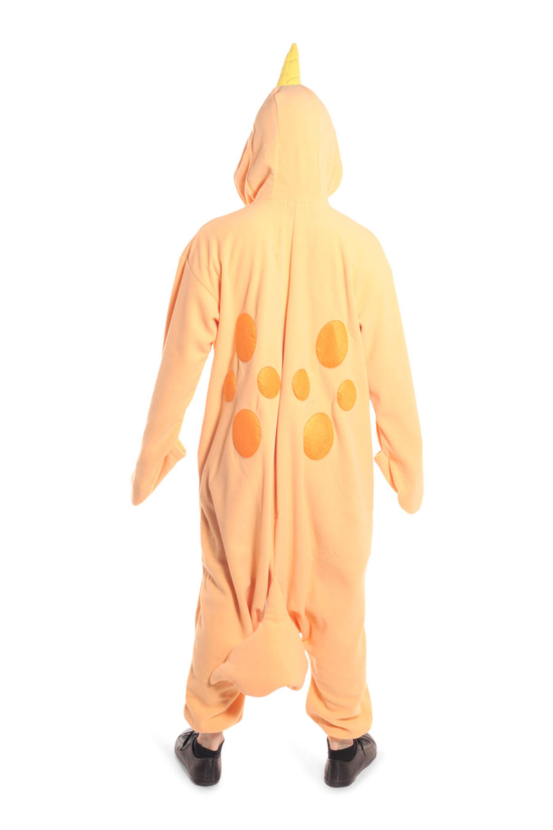 Peach Narwhal Animal Kigurumi Adult Onesie Costume Pajamas Orange Back