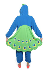 Peacock Animal Kigurumi Adult Onesie Costume Pajamas Back