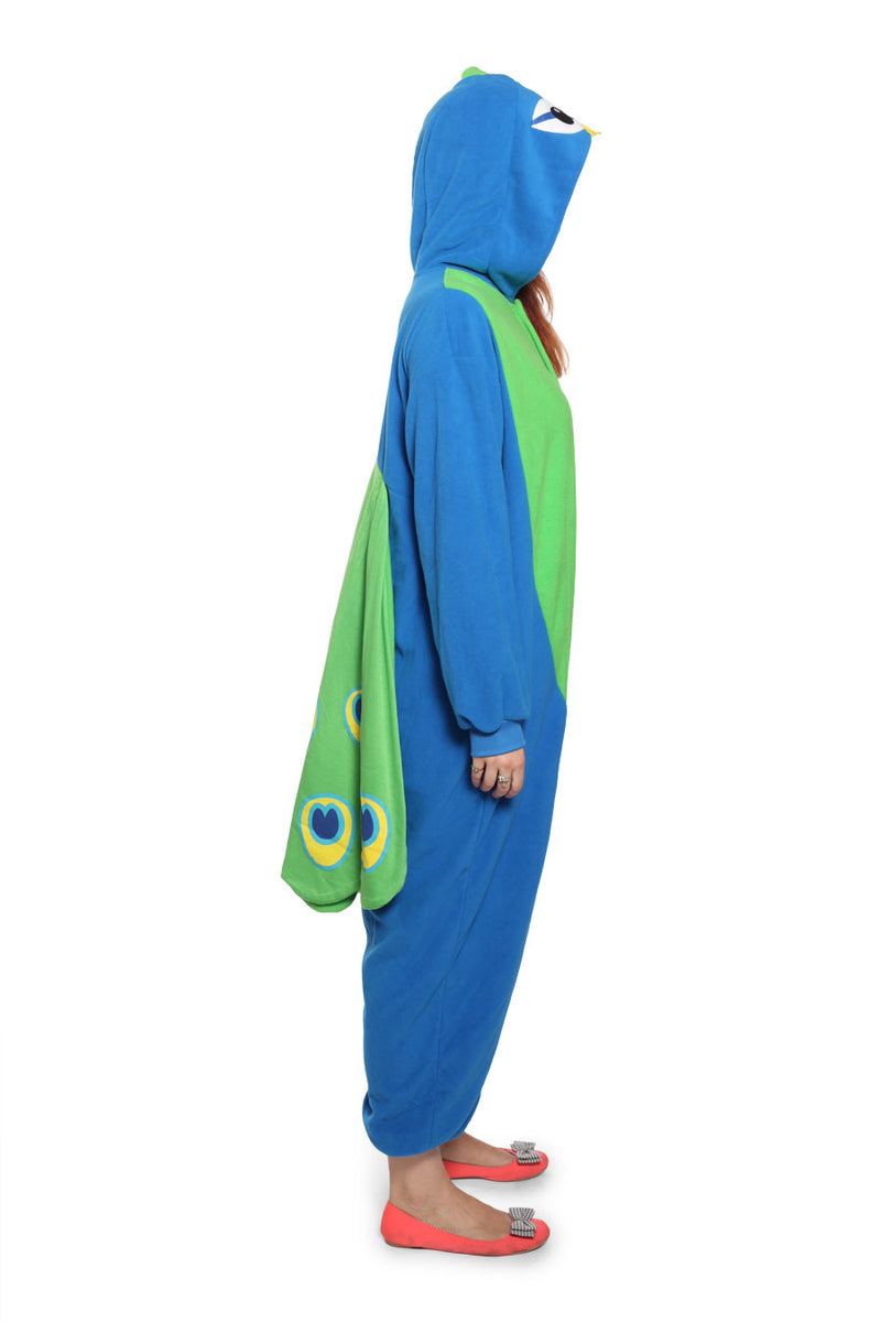 Peacock Animal Kigurumi Adult Onesie Costume Pajamas Side