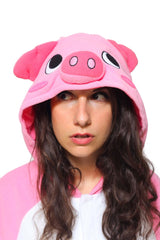Pig Animal Kigurumi Adult Onesie Costume Pajamas Hood