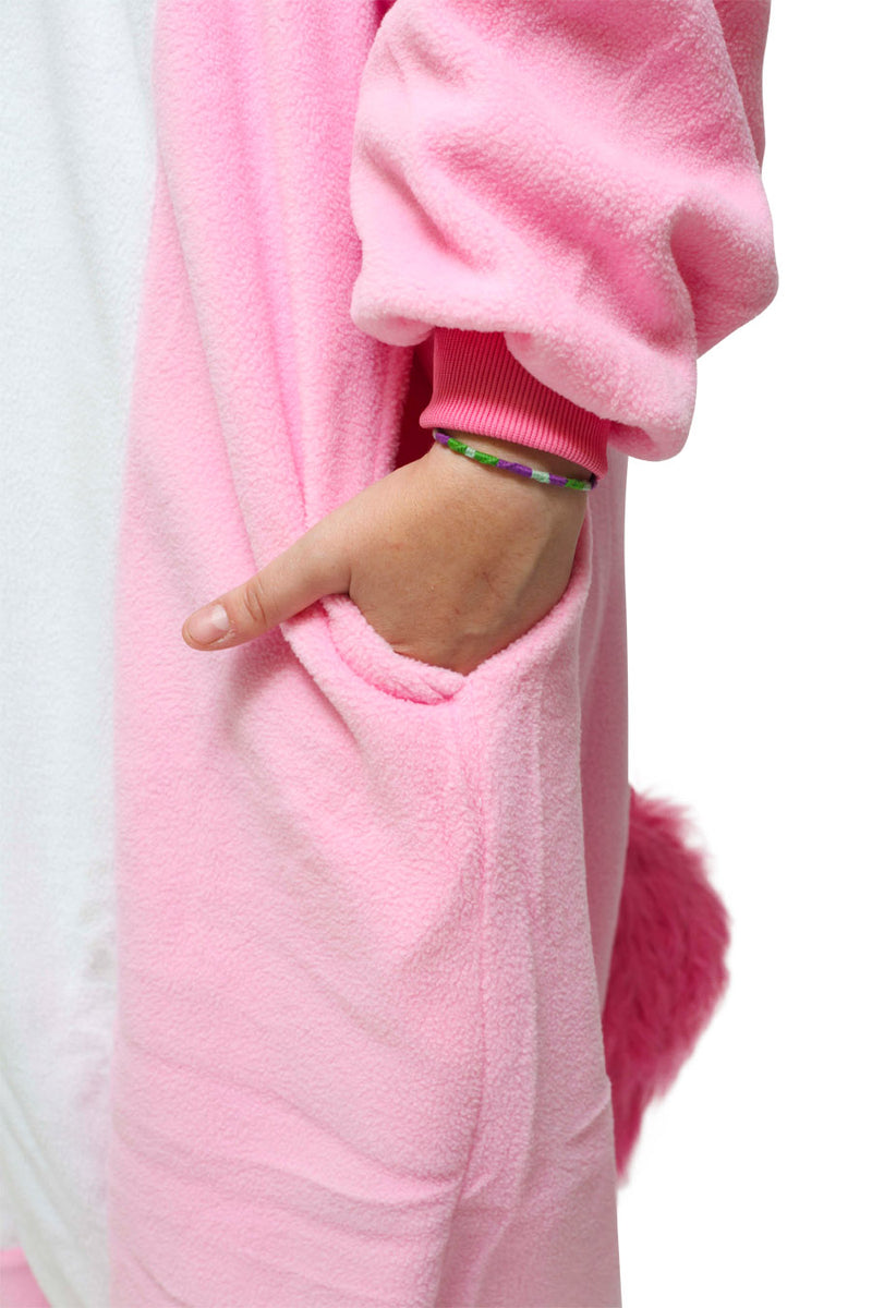 Pink Unicorn Animal Kigurumi Adult Onesie Costume Pajamas Pocket