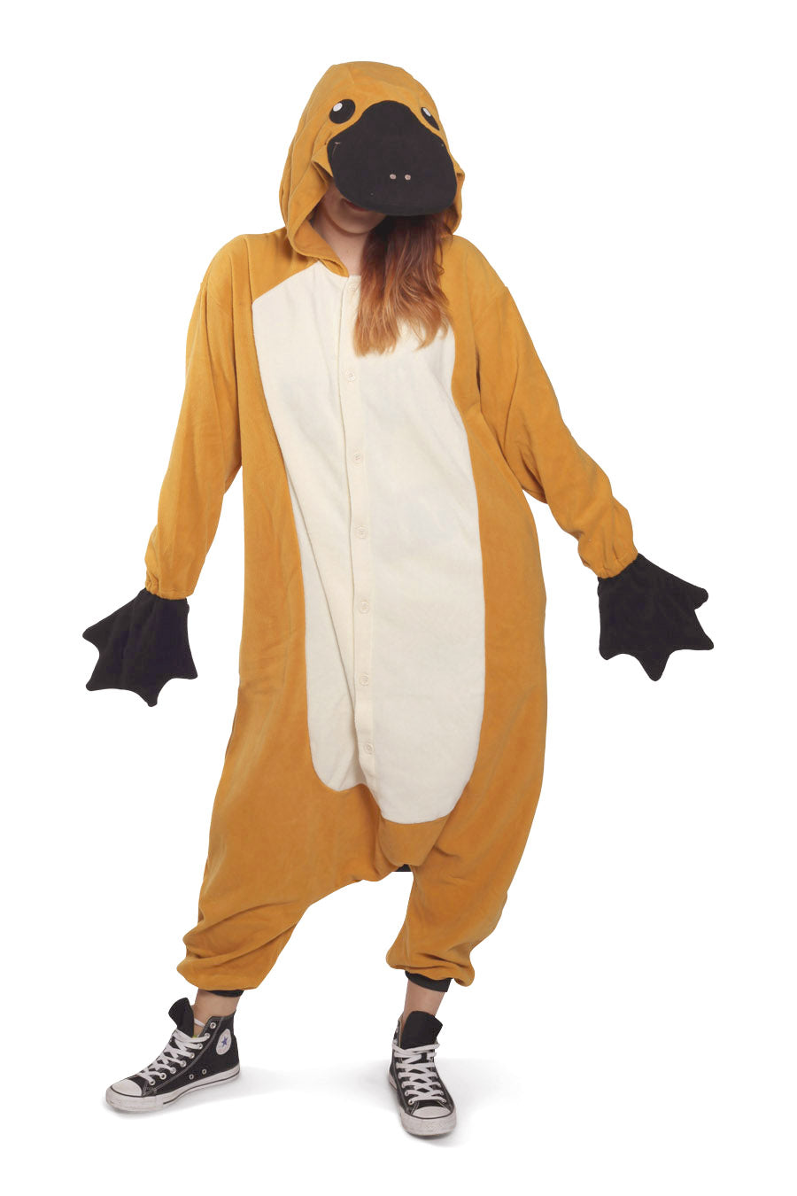 Platypus Animal Kigurumi Adult Onesie Costume Pajamas Main