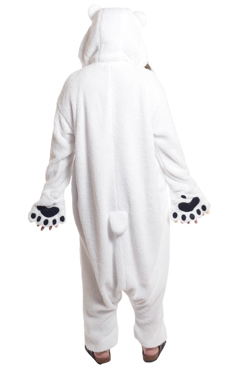 Polar Bear Animal Kigurumi Adult Onesie Costume Pajamas Back