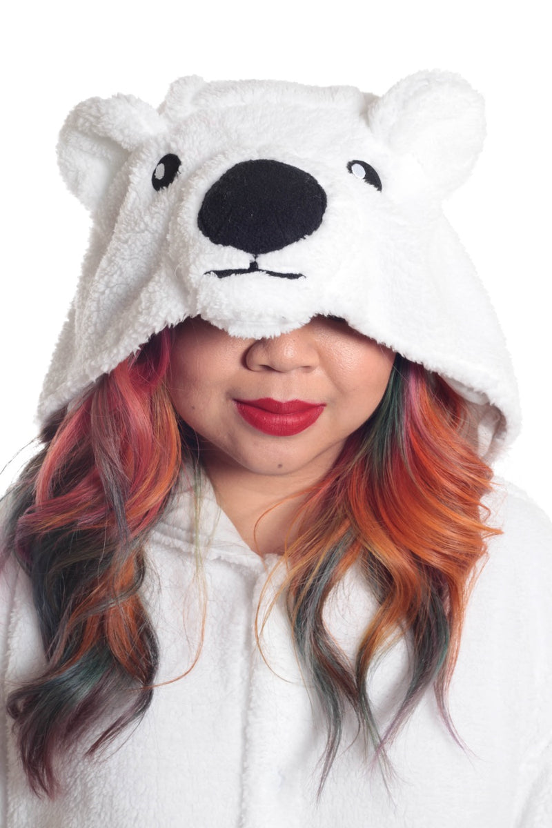 Polar Bear Animal Kigurumi Adult Onesie Costume Pajamas Hood