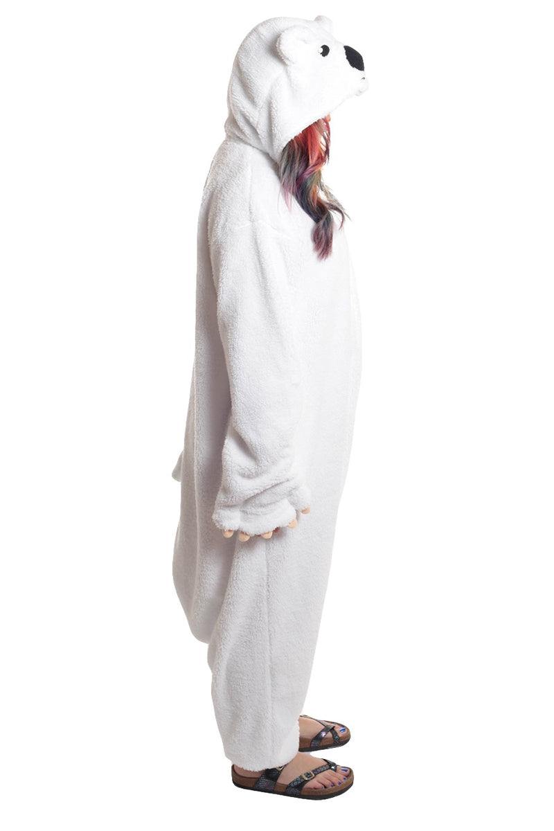 Polar Bear Animal Kigurumi Adult Onesie Costume Pajamas Side