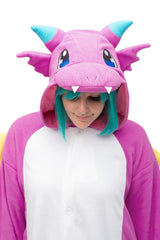 Puff the Purple Dragon Animal Kigurumi Adult Onesie Costume Pajamas Hood