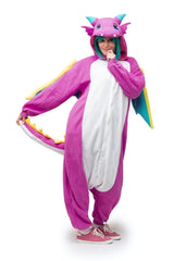 Puff the Purple Dragon Animal Kigurumi Adult Onesie Costume Pajamas Secondary