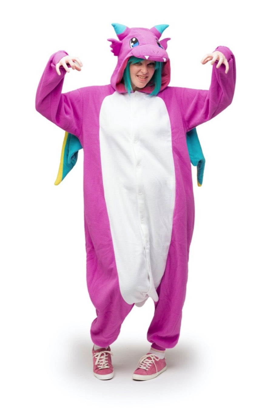 Puff the Purple Dragon Animal Kigurumi Adult Onesie Costume Pajamas Main