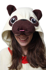 Pug Animal Kigurumi Adult Onesie Costume Pajamas Hood