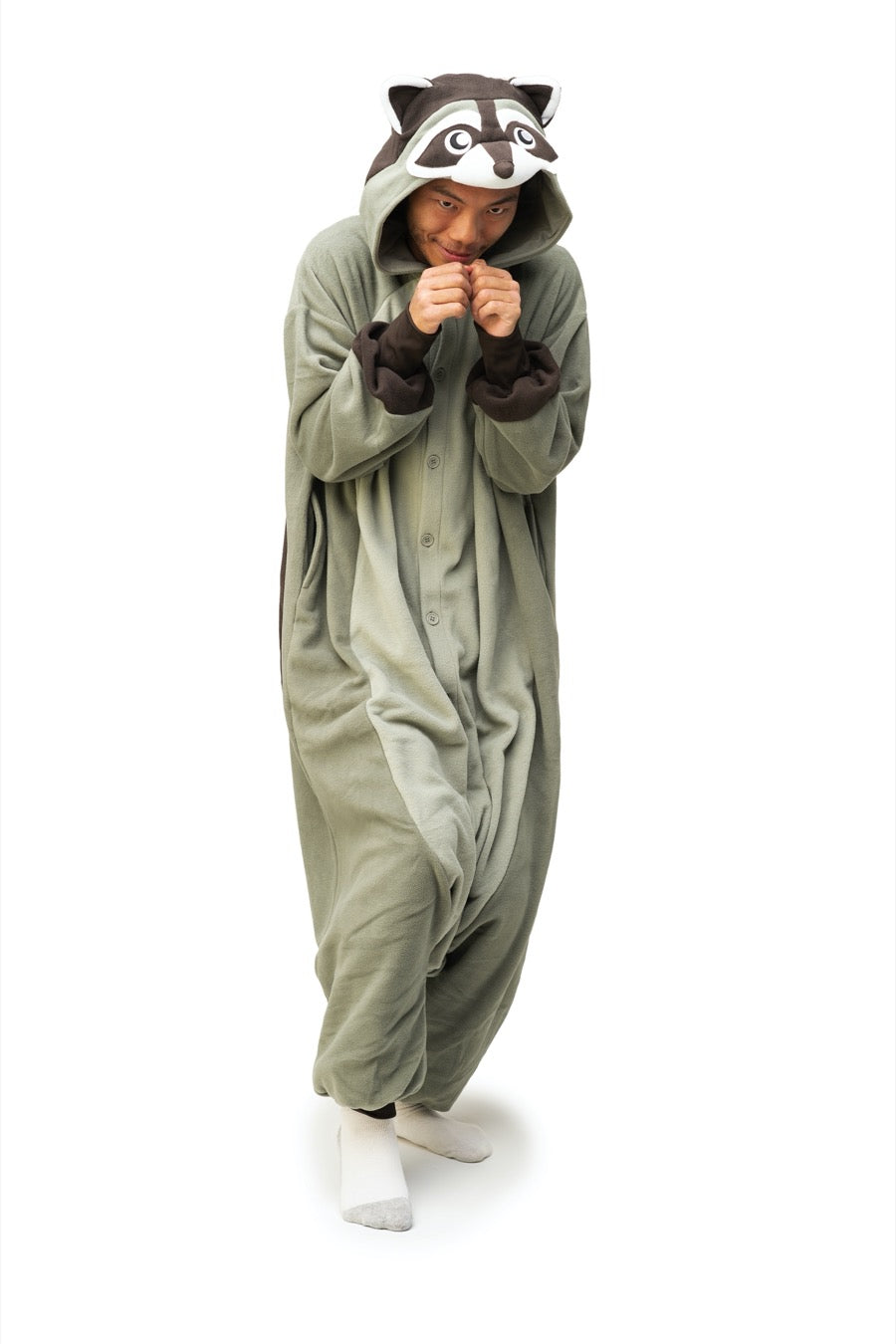 Raccoon Animal Kigurumi Adult Onesie Costume Pajamas Main