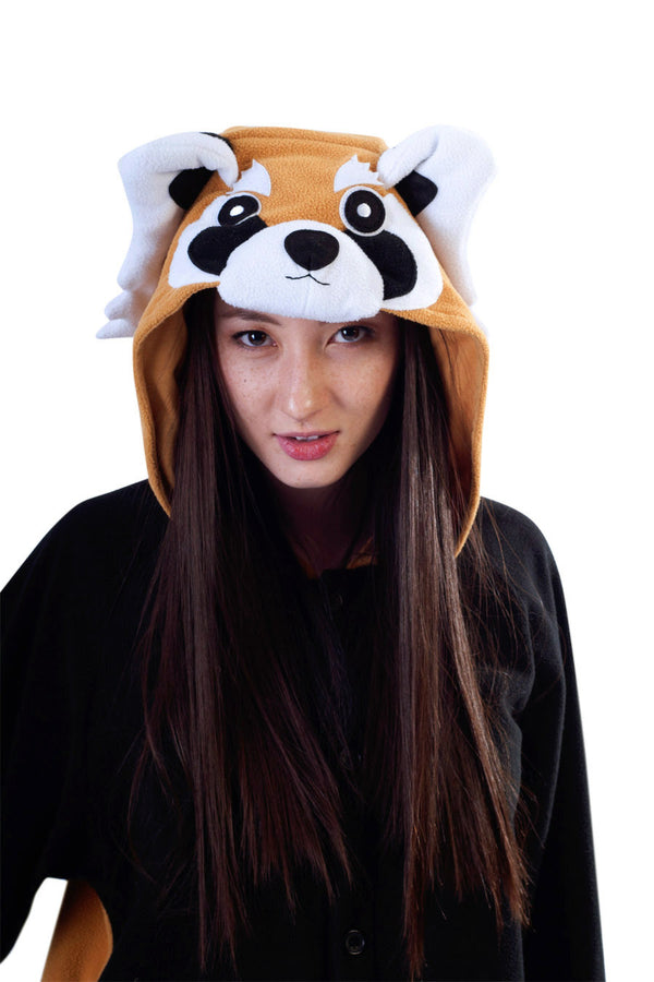 Red Panda Animal Kigurumi Adult Onesie Costume Pajamas Hood