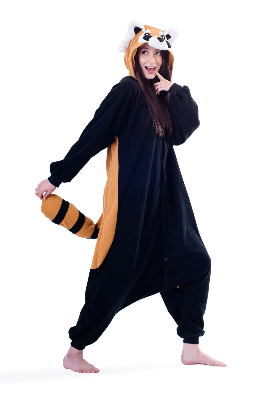 Red Panda Animal Kigurumi Adult Onesie Costume Pajamas Main