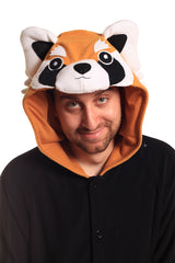 Red Panda X-Tall Animal Kigurumi Adult Onesie Costume Pajamas Hood