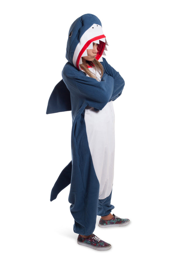 Shark Animal Kigurumi Adult Onesie Costume Pajamas Blue Main