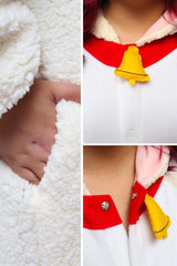 Sheep Animal Kigurumi Adult Onesie Costume Pajamas Fuzzy Ram Detail