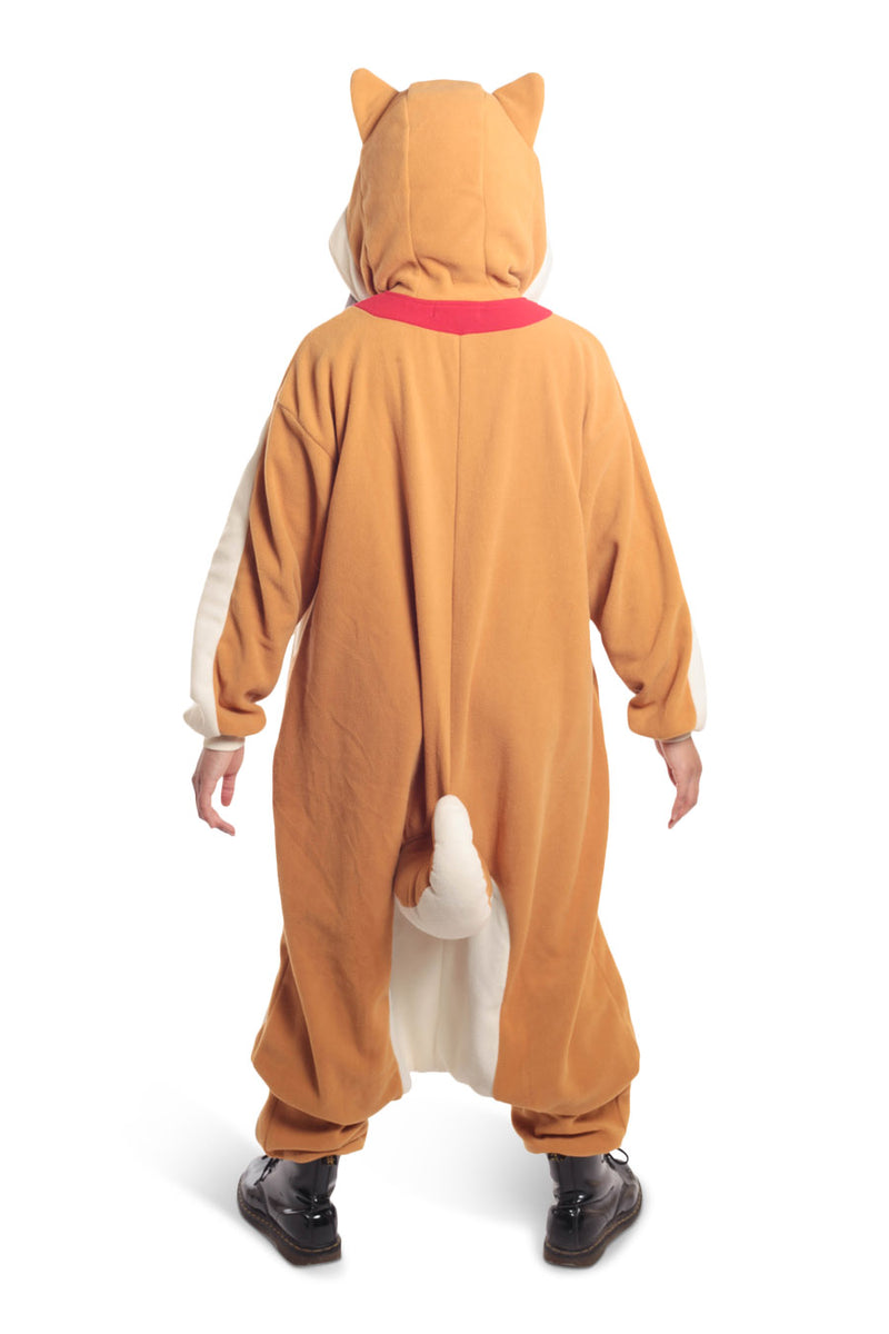 Shiba Dog Animal Kigurumi Adult Onesie Costume Pajamas Back