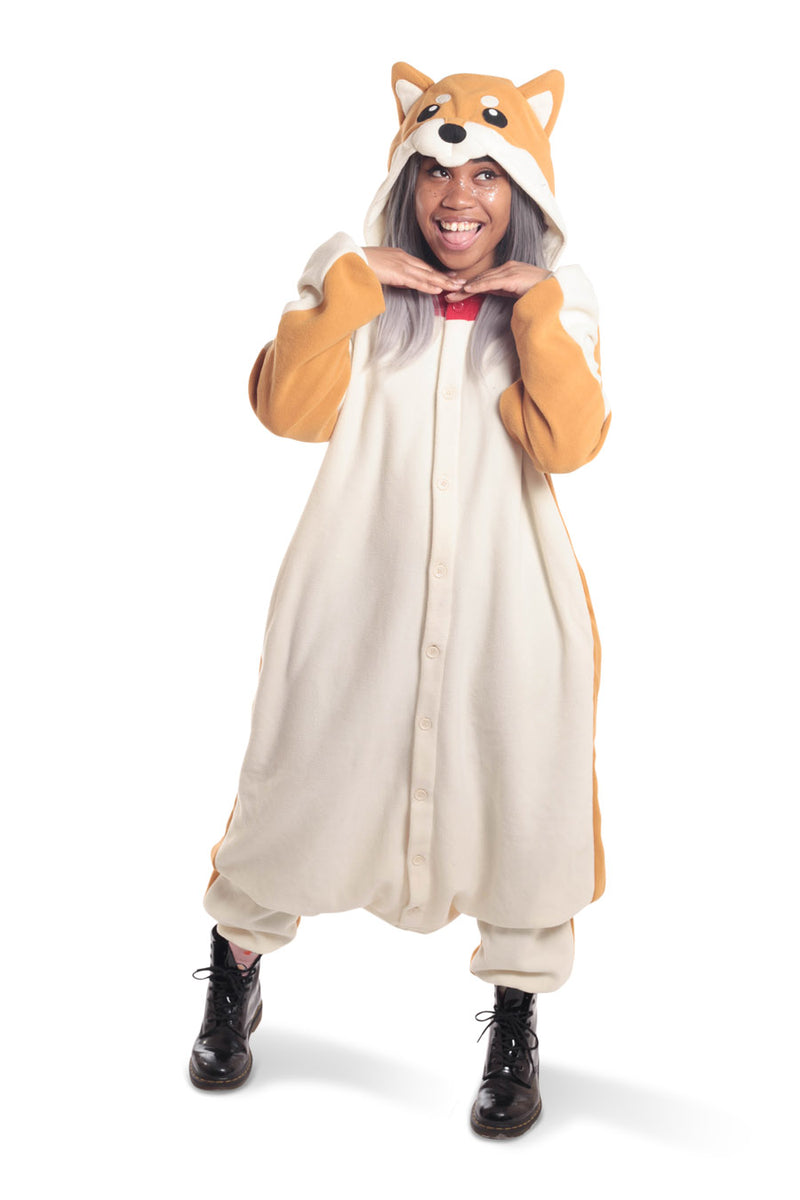 Shiba Dog Animal Kigurumi Adult Onesie Costume Pajamas Secondary