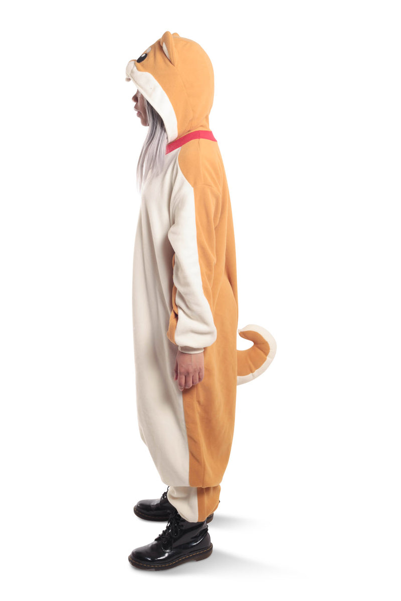 Shiba Dog Animal Kigurumi Adult Onesie Costume Pajamas Side
