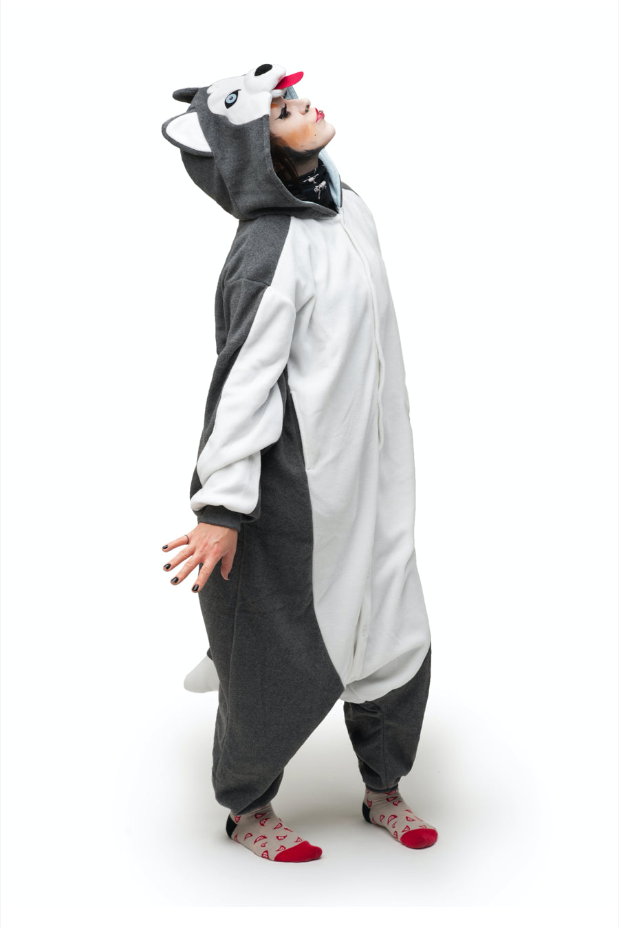 Siberian Husky Animal Kigurumi Adult Onesie Costume Pajamas Main