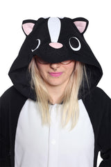 Skunk Animal Kigurumi Adult Onesie Costume Pajamas Hood